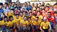 খোজারখলা আদর্শ সমাজকল্যাণ সংঘের ফুটবল টুর্নামেন্ট উদ্বোধন