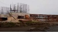 তাহিরপুরে যাদুকাটা নদীর সেতুর নির্মাণকাজ ২৫ শতাংশ শেষ