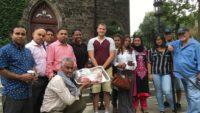 নিউইয়র্কে চার্চে কোরবানির মাংশ বিতরণ করলের প্রবাসী বাংলাদেশীরা