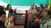 কমলগঞ্জ প্রেসক্লাব ভবনের নির্মাণ কাজের ভিত্তিপ্রস্তর স্থাপন