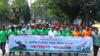 জাতীয় নিরাপদ সড়ক দিবস উপলক্ষে সুনামগঞ্জে শোভাযাত্রা