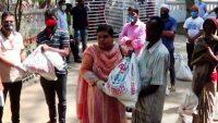 সুনামগঞ্জ জেলা পরিষদের ৭শ পরিবারে খাদ্যসামগ্রী বিতরণ