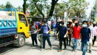 সুনামগঞ্জ শহরকে জীবাণুমুক্ত রাখতে পৌরসভার উদ্যোগ