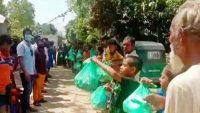 সুনামগঞ্জের গৌরারংয়ে যুব সমাজের খাদ্যসামগ্রী বিতরণ
