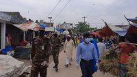 লাখাইয়ে 'করোনা' ঠেকাতে সেনাবাহিনীর টহল অব্যাহত