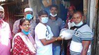 সুনামগঞ্জে ৩৫০টি পরিবারে খাদ্য পৌঁছে দিলেন মেয়র নাদের