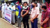 মাহতাবের মুক্তির দাবিতে সুনামগঞ্জ জেলা সাংবাদিক ফোরামের মানববন্ধন