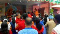 সুনামগঞ্জে পূজামণ্ডপে ভিড় : দেবীর চরণে পুষ্পাঞ্জলি অর্পণ