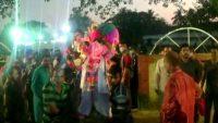 সুনামগঞ্জে প্রতিমা বিসজর্নের মধ্য দিয়ে শেষ হলো দুর্গাপূজা