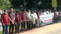 পীর হাবিবের বাসায় হামলার প্রতিবাদে সুনামগঞ্জে মানববন্ধন