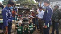 আজমিরীগঞ্জে মাস্ক পড়া নিশ্চিত করতে মাঠে উপজেলা প্রশাসন