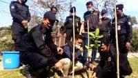 বঙ্গবন্ধুর জন্মশতবার্ষিকী উপলক্ষে সুনামগঞ্জে র্যাবের বৃক্ষরোপণ
